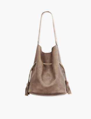Lucky Brand Drawstring Vegan Leather Bucket Bag