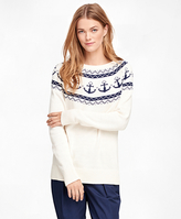 Brooks Brothers Cotton Fair Isle Sweater
