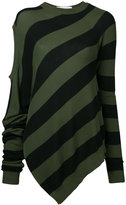 A.F.Vandevorst striped knitted top - women - Cotton - M