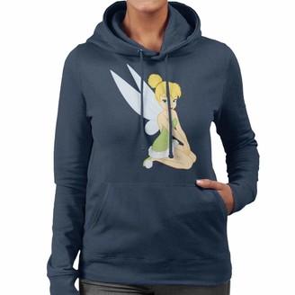 Disney Peter Pan Classic 1950s Tinker Bell Women's Hooded Sweatshirt Navy Blue