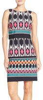 Eliza J Print Jersey Popover Dress