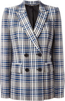 Alexander McQueen check double breasted blazer - women - Cupro/Virgin Wool - 40