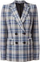 Alexander McQueen checked double breasted blazer - women - Cupro/Virgin Wool - 42