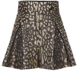 Dolce & Gabbana High-rise brocade shorts