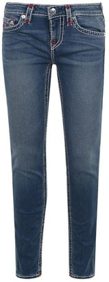 True Religion Red Stitch Super Skinny Jeans