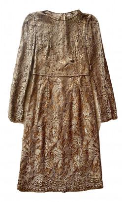 Dolce & Gabbana Gold Lace Dresses