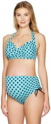 Prego Maternity Maternity Women's Maternity Polka Dot Pin Up Bikini