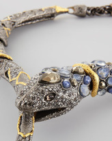 Alexis Bittar Pave Crystal Snake Necklace