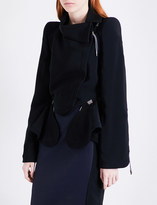 Antonio Berardi Frilled-hem woven jacket