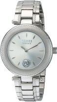 Versus By Versace Women's 'BRICK LANE' Quartz Stainless Steel Casual Watch, Color:-Toned (Model: S71010016)