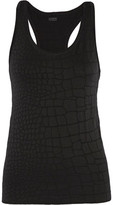 Yummie by Heather Thomson Daria Croc-Effect Stretch-Jacquard Tank