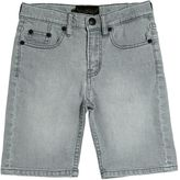 Finger In The Nose Faded Stretch Denim Shorts