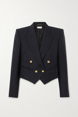 Saint Laurent Blue Blazers For Women Up to 50% off at