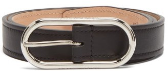 Acne Studios Masculine Logo-buckle Leather Belt - Black