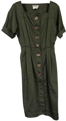 Saint Laurent Green Cotton Dress for Women Vintage