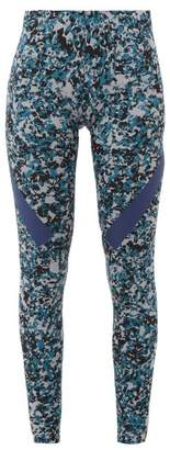 adidas by Stella McCartney Alphaskin 360 Camo-print Leggings - Womens - Grey