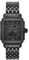 Michele Deco Madison Noir Diamond Dial Watch Head & Bracelet, 33mm