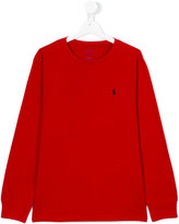 Ralph Lauren logo sweatshirt - kids - Cotton - 14 yrs