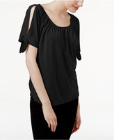 INC International Concepts Cold-Shoulder T-Shirt, Created for Macy's