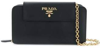 Prada Saffiano zipped clutch