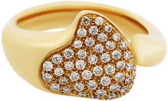 Tiffany & Co. Estate 18K Yellow Gold Diamond Pave Ring, Size 6.5