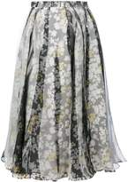 Jil Sander floral pleated skirt