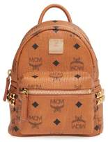 Stark Side Studs Medium Backpack in Cognac Bonded Visetos MCM yTk3w5Aai