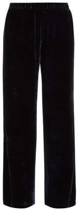 Icons Petunia Velvet Trousers - Womens - Navy