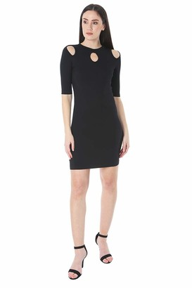Bebe Women's Cutout Details at Shoulder and Neckline of Dress