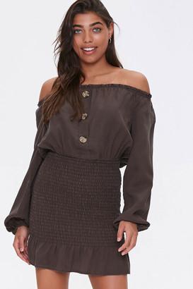 Forever 21 Off-the-Shoulder Smocked Dress