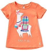 Joules Baby/Little Girls 12 Months-3T Maggie Alpaca Applique Short-Sleeve Top