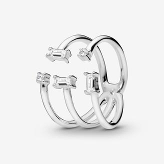 Pandora Open Ice Cube Ring