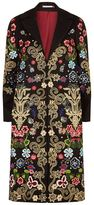 Alice + Olivia Long Embroidered Coat