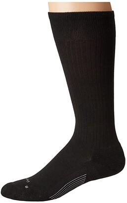 Feetures Classic Rib Cushion Crew Sock (Black) Crew Cut Socks Shoes