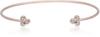 Gemondo Diamond Trilogy Geometric Open Bangle In 9Ct Rose Gold