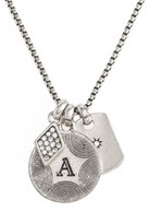 Women's Treasure & Bond Triple Charm Initial Pendant Necklace