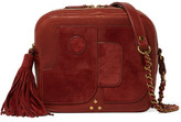 Jerome Dreyfuss Pascal Suede-paneled Textured-leather Shoulder Bag - Brick