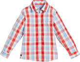 Mayoral Long-Sleeve Check Button-Down Shirt, Size 4-7
