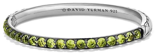 David Yurman Osetra Bangle Bracelet with Peridot