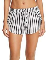 Tori Praver Deliah Stripe Cover-Up Shorts