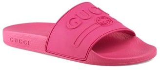 Gucci Pursuit Logo Pool Slides