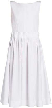 Marni Poplin Boatneck Fit-&-Flare Dress
