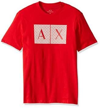 Armani Exchange A|X Men's Crew Neck Triangulation T-Shirt