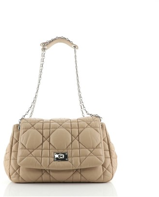Christian Dior Milly La Foret Handbag Cannage Quilt Lambskin Large