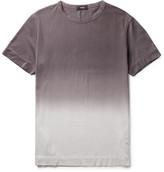 Theory Gaskell Dégradé Slub Cotton-jersey T-shirt - Gray