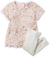 juicy couture (Newborn/Infant Girls) Two-Piece Leopard Print Tunic & Leggings Set