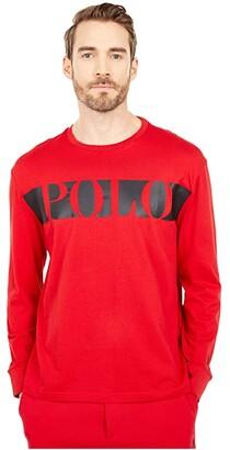 Polo Ralph Lauren Classic Fit Graphic T-Shirt (Polo Black) Men's Clothing