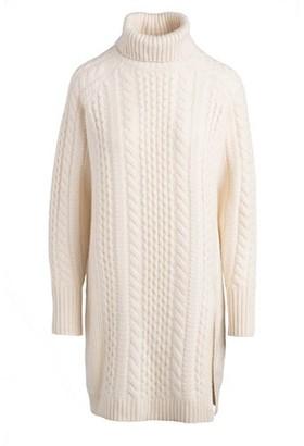 Naadam Cable Turtleneck Sweater Dress