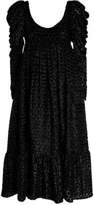 Kika Vargas Scoop-Neck Midi Dress