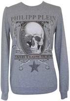 Philipp Plein Grey Cotton Knitwear